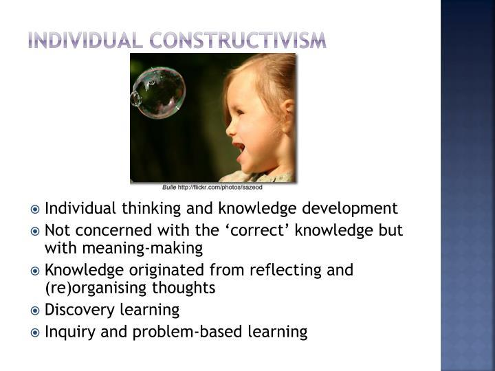 Individual constructivism