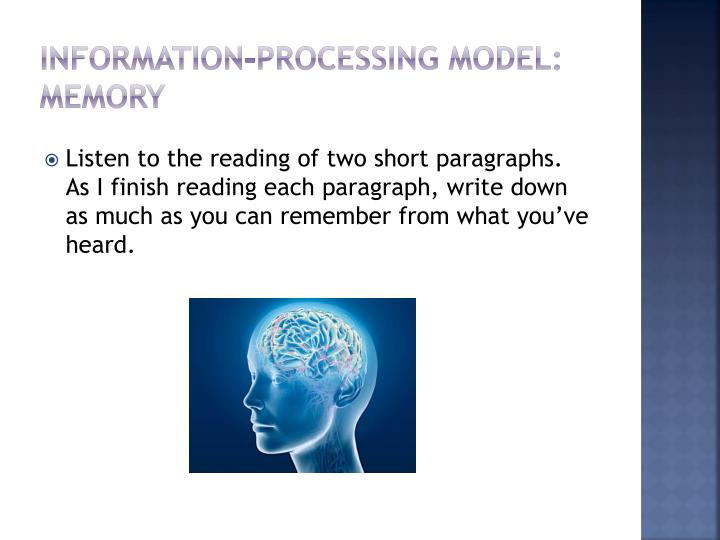 Information-processing model: memory