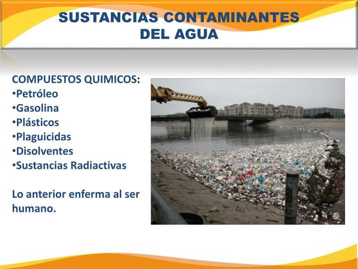 SUSTANCIAS CONTAMINANTES