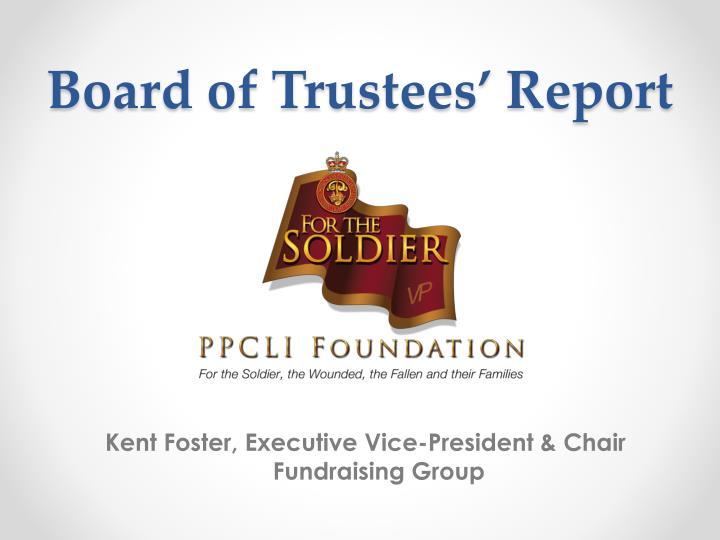 Board of Trustees' Report