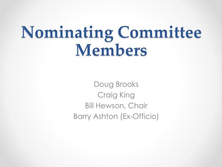 Nominating Committee Members