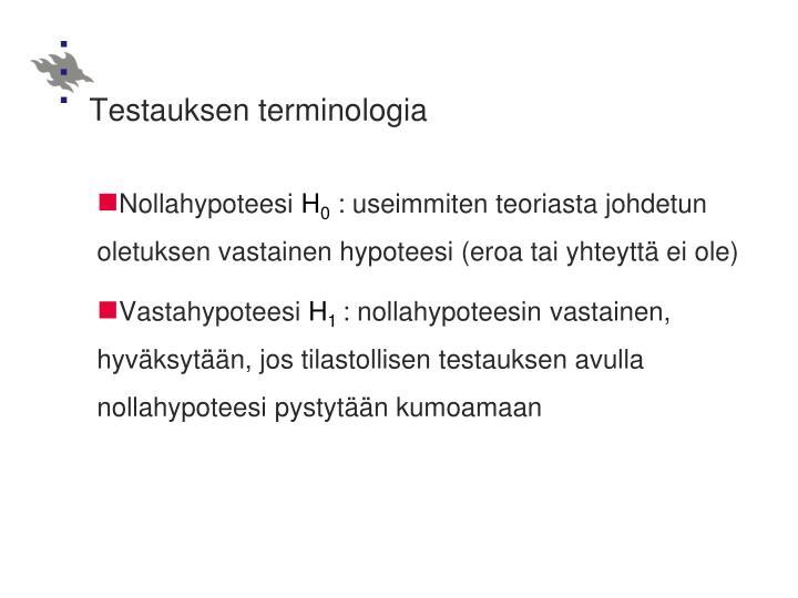 Testauksen terminologia