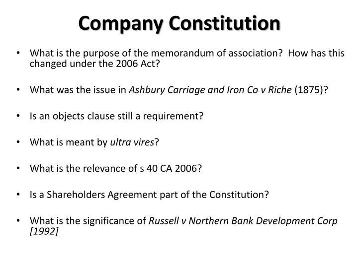 Company Constitution