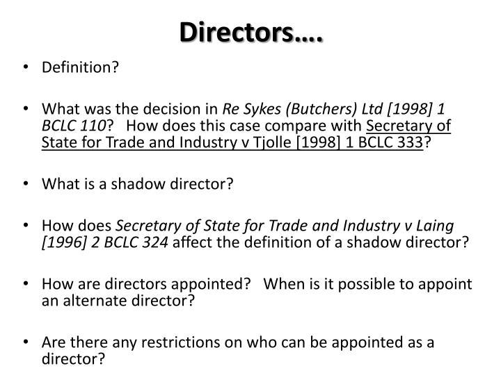 Directors….