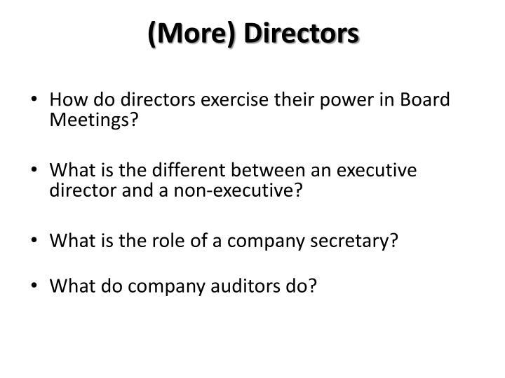 (More) Directors