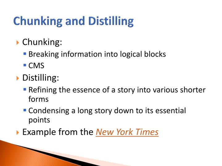 Chunking and Distilling