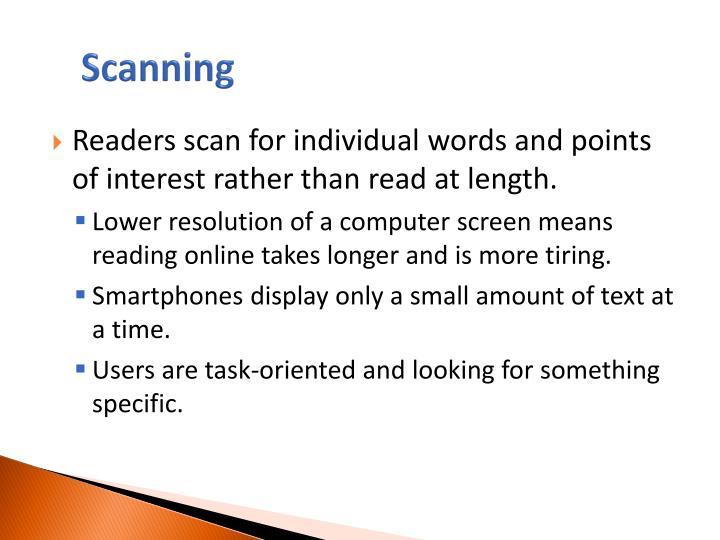 Scanning