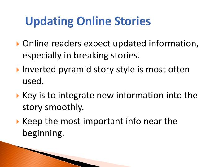 Updating Online Stories