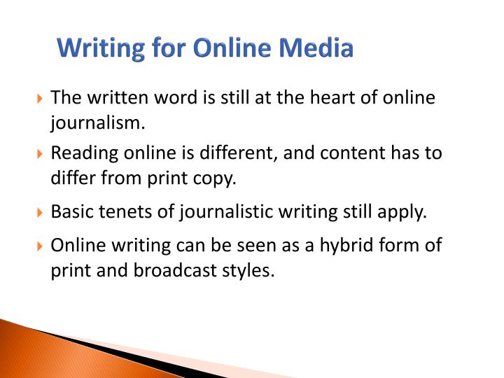 Writing for online media