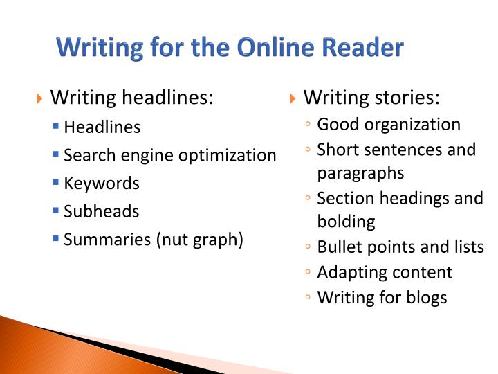 Writing for the Online Reader