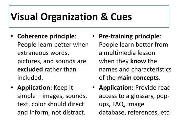 Visual Organization & Cues