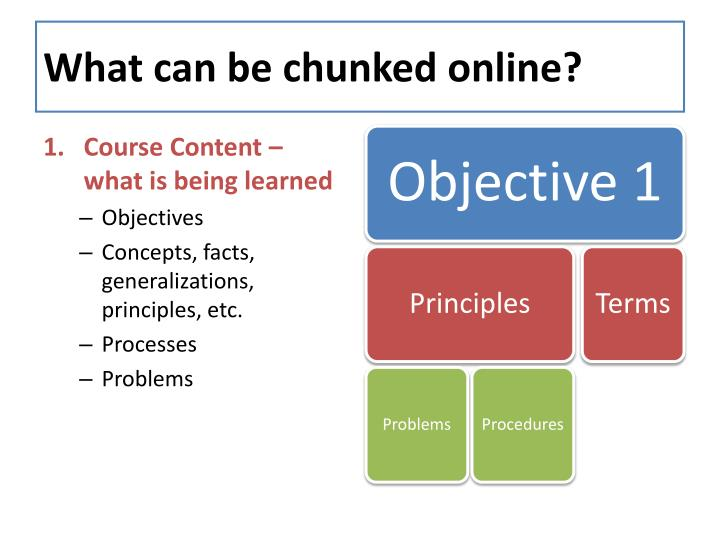 What can be chunked online?
