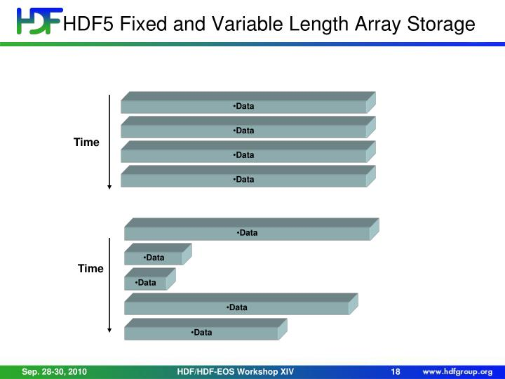HDF5 Fixed and Variable Length Array Storage