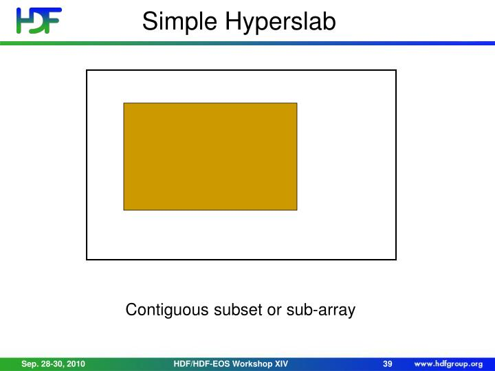 Simple Hyperslab