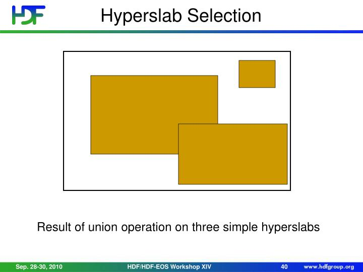 Hyperslab Selection