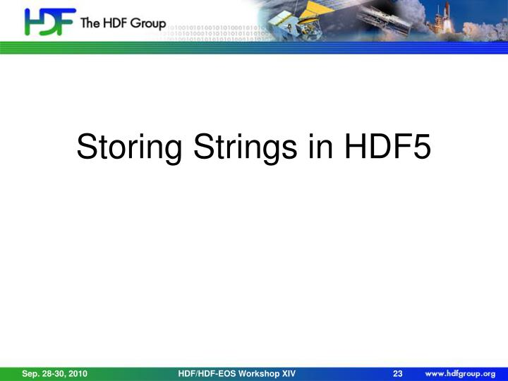 Storing Strings in HDF5