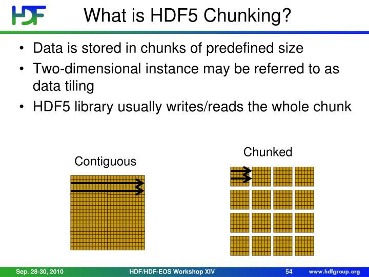 What is HDF5 Chunking?
