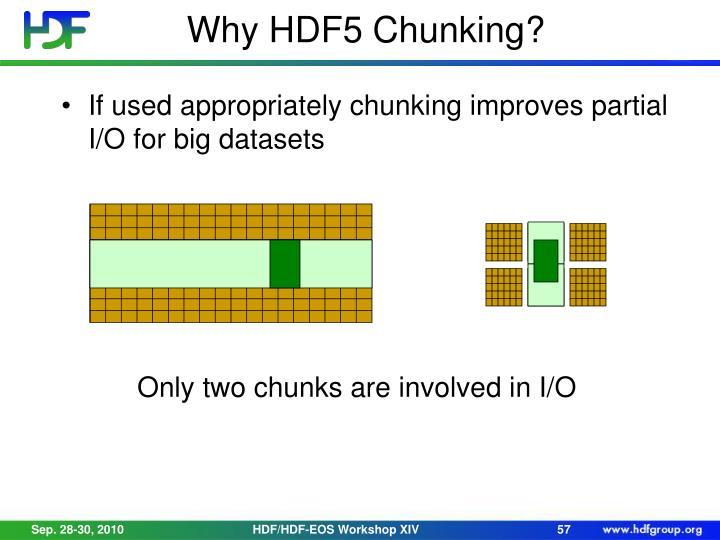 Why HDF5 Chunking?