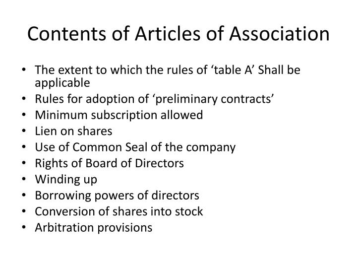 articles of association essay 1 company limited by shares articles of association of welspun india limited the following regulations comprised in these articles of association were.