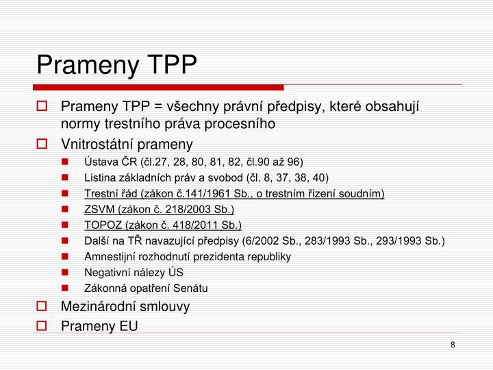 Prameny TPP