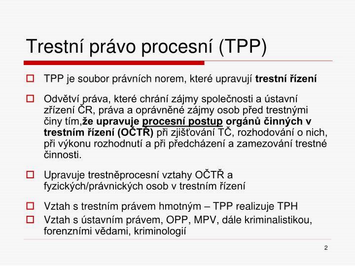 Trestní právo procesní (TPP