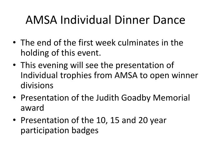 AMSA Individual Dinner Dance