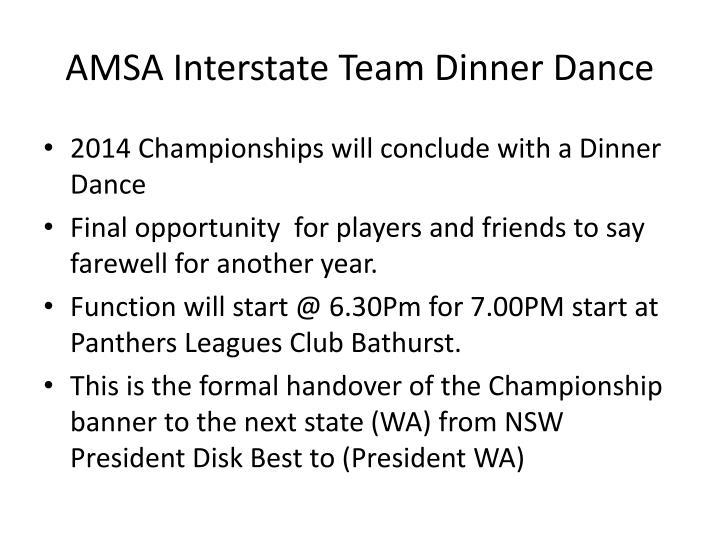 AMSA Interstate Team Dinner Dance