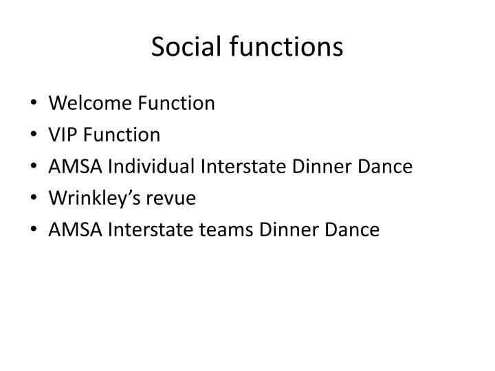 Social functions