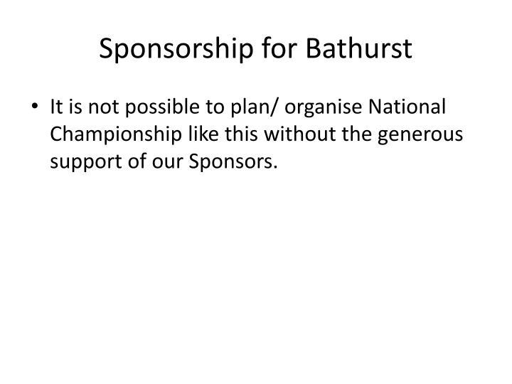 Sponsorship for