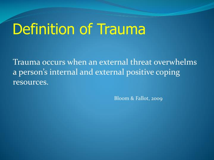 Definition of Trauma