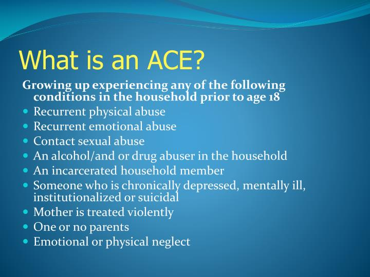 What is an ACE?