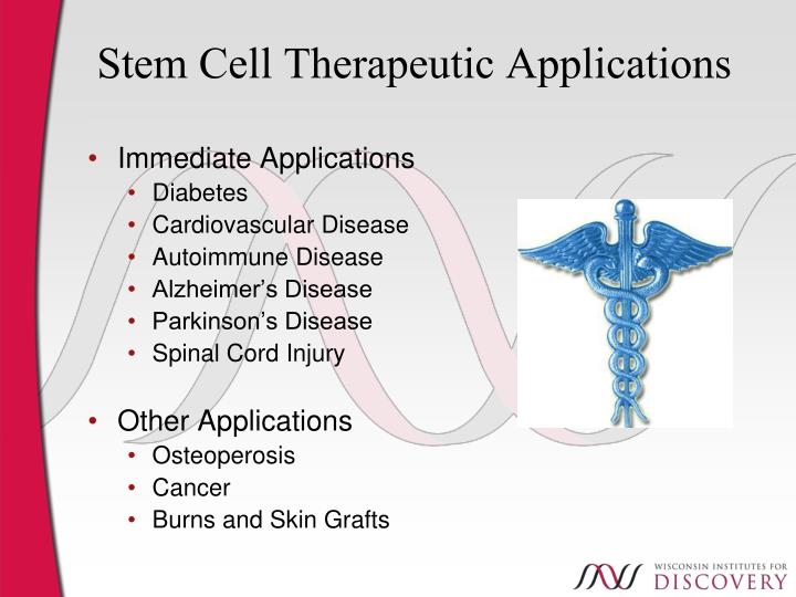 Stem Cell Therapeutic Applications