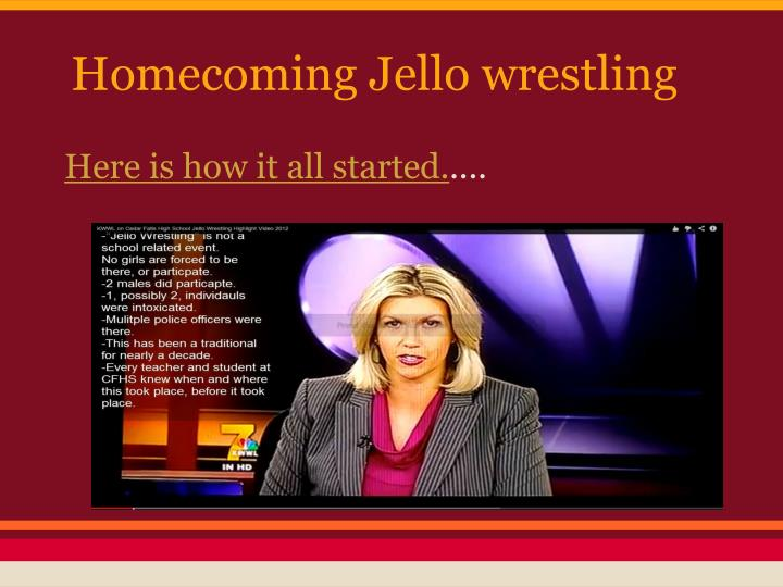 Homecoming Jello wrestling