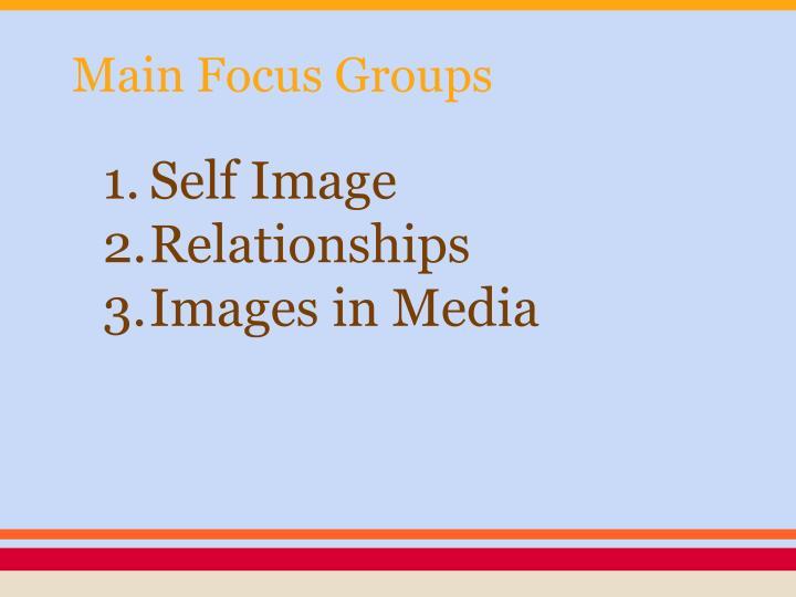 Main Focus Groups