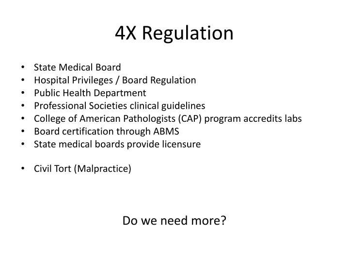 4X Regulation