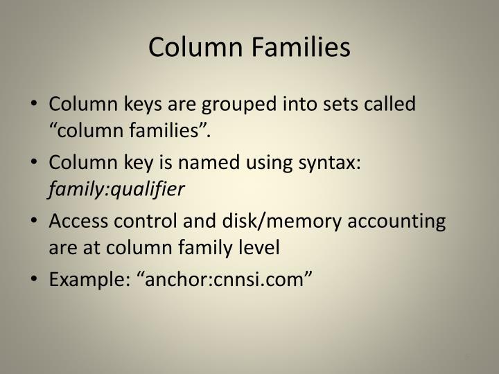 Column Families