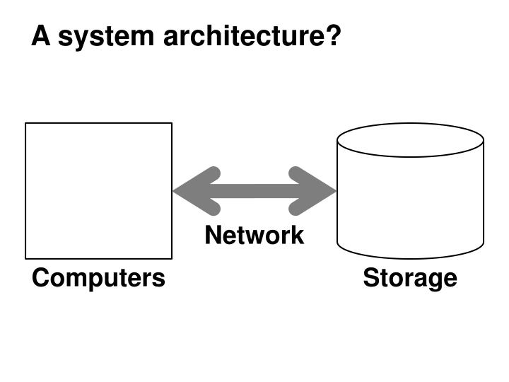 A system architecture?