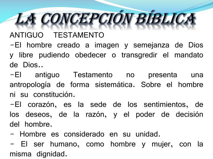 La concepción Bíblica