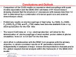 conclusions and outlook1