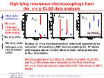 high lying resonance electrocouplings from the p p p clas data analysis