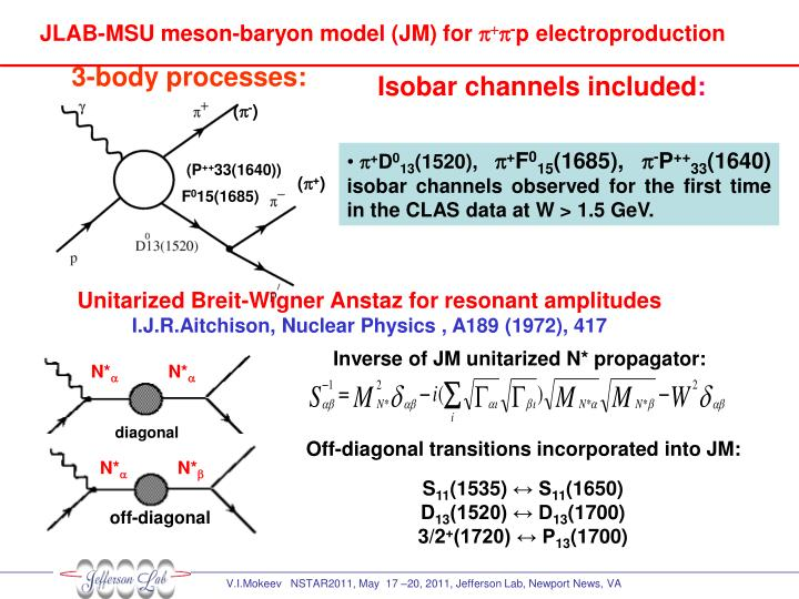 JLAB-MSU meson-baryon model (JM) for