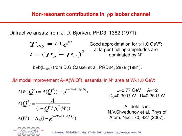 Non-resonant contributions in