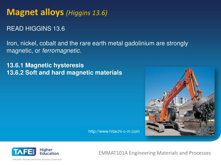 Magnet alloys