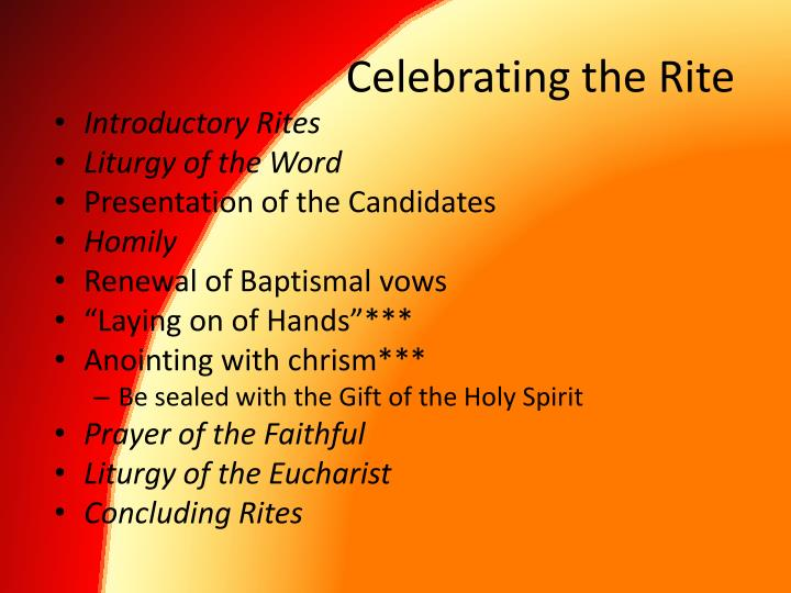 Celebrating the Rite