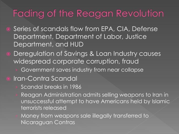 Fading of the Reagan Revolution