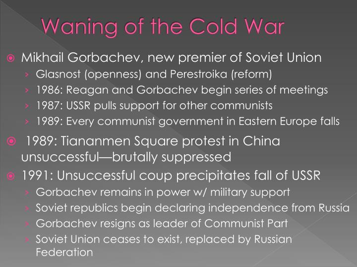 Waning of the Cold War