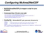 configuring mcarea2netcdf