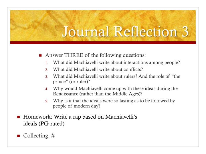 Journal Reflection 3