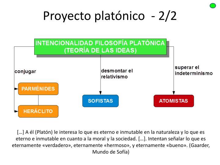 Proyecto platónico  - 2/2