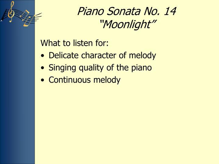 Piano Sonata No. 14